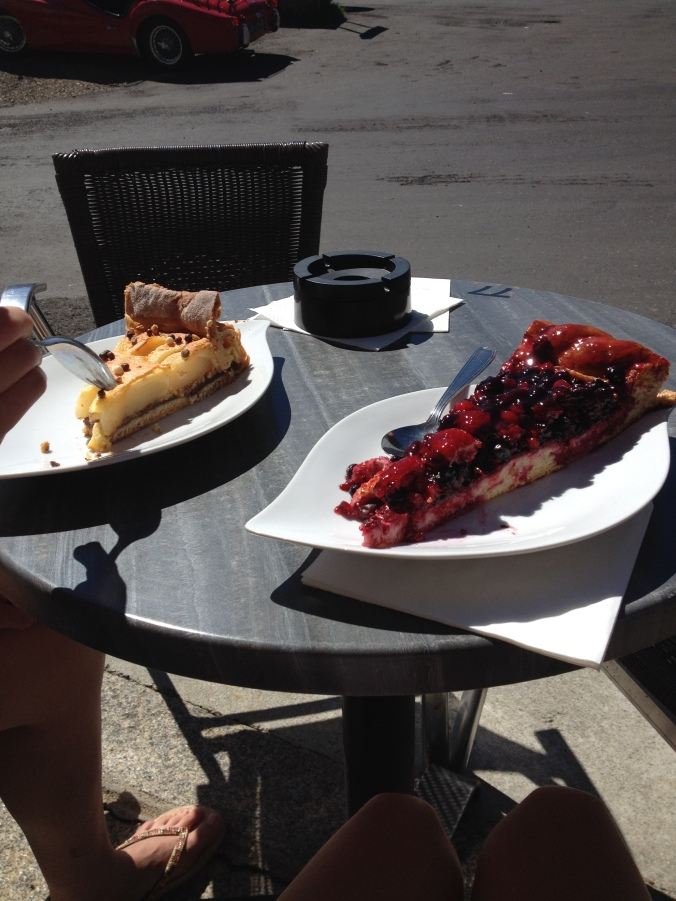 randonnée - tarte aux fruits