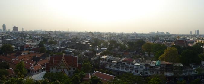 vue sur Bangkok depuis le Mont d'or