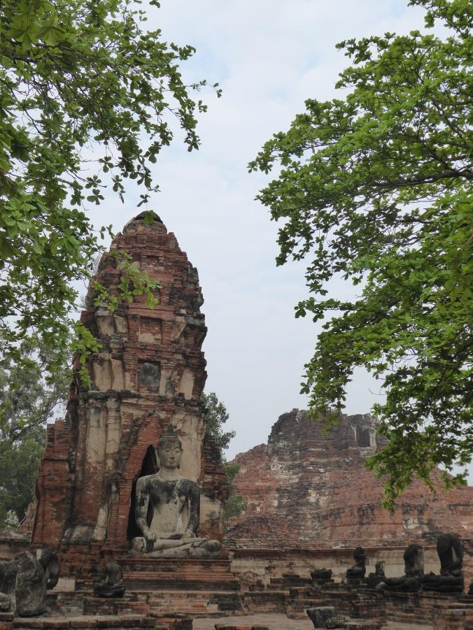 les temples du site d'Ayutthaya
